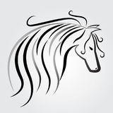 Beautiful horse logo vector identity card symbol label image vector. Beautiful horse logo vector identity card image design vector identity card symbol label Royalty Free Stock Images