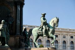 Beautiful horse monument Vienna Austria 10.10.2017 stock images