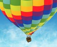 Beautiful Hot Air Balloon against a deep blue sky. Royalty Free Stock Photo
