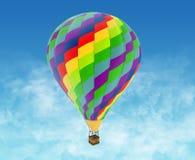 Beautiful Hot Air Balloon against a deep blue sky. Royalty Free Stock Photos