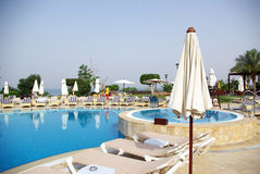 Beautiful hotel on the beach. Jordan. Stock Photography