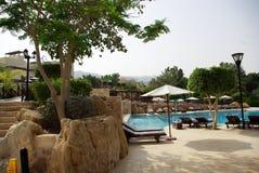 Beautiful hotel on the beach. Jordan. Stock Photo