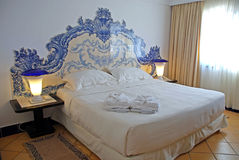 Beautiful hotel bedroom interior Royalty Free Stock Photo