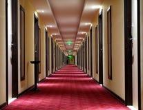 Beautiful hotel corridor with carpet Stock Photo