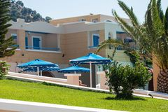 Beautiful hotel in Kos Stock Photography