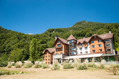 Beautiful hotel at the mountains Stock Image