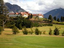 Beautiful Hotel in Nature. A gorgeous hotel and surroundings in Llao Llao, Argentina stock photography
