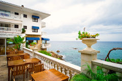 Beautiful hotel near the mediterranean sea Stock Image