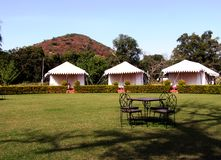 Beautiful hotel resort and tent Stock Photo