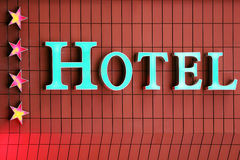 Beautiful hotel sign and stars in Istanbul, Turkey Royalty Free Stock Images