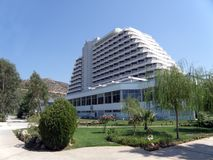 Beautiful hotel in Turkey stock images