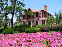 Beautiful house. With flower front Stock Image