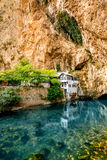 Beautiful house in Blagaj village on Buna spring Stock Image