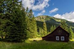 Beautiful house/cabin in Krkonose mountains in Czech republic Stock Photos