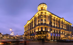 Beautiful house in central part of Warsaw, Poland Royalty Free Stock Images