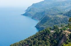 Beautiful House On The Coast of Mallorca. In Spain ( Balearic Islands Stock Photo