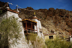 A beautiful house in the complex of Hemis monastery Leh Ladakh ,India Stock Images