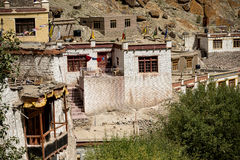 A beautiful house in the complex of Hemis monastery Leh Ladakh ,India stock photography