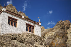 A beautiful house in the complex of Hemis monastery Leh Ladakh ,India Stock Photos