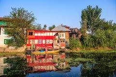 Beautiful house on Dal Lake Royalty Free Stock Image
