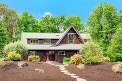 Beautiful house with desert like landscape Stock Image