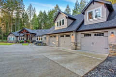 Beautiful house with driveway. Stock Photography
