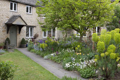 Beautiful House and garden in Burford, UK Royalty Free Stock Image