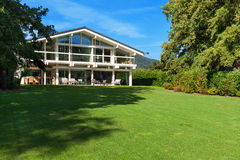 Beautiful house with garden Stock Photos
