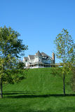 Beautiful house on a hill Royalty Free Stock Photo