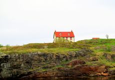 Beautiful House on the Hill. Very picturesque Stock Images