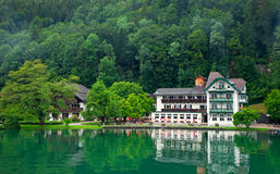 The beautiful house on the lake, Austria Royalty Free Stock Photography