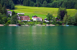 The beautiful house on the lake, Austria Royalty Free Stock Image