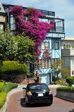 Beautiful house at Lombard Street, San Francisco Stock Photos