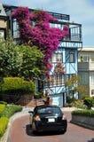 Beautiful house at Lombard Street, San Francisco stock photos