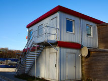 Beautiful House Made From Shipping Containers Royalty Free Stock Image
