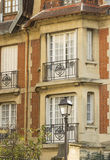 The beautiful house in Montmartre quarter. Stock Photography