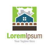 Beautiful house  in nature dream home real estate simple business icon logo Stock Images