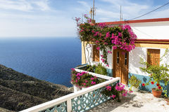 Beautiful House in Olympos, Karpathos. Beautiful House on the cliff in Olympos, Karpathos island, Greece Royalty Free Stock Photos