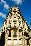 Beautiful house in Paris. On a sunny day Royalty Free Stock Photos