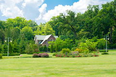 Beautiful house in park Royalty Free Stock Photos