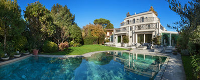 Beautiful house with pool Stock Image