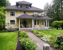 Beautiful House with porch Stock Photo