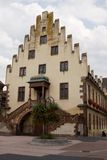 A beautiful house of Renaissance style in Selestat city in Franc. Formerly in the house there was the Arsenal of Saint Barbara, the patroness of gunners. It was stock photo