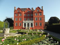 A Beautiful House. A Stately House And Garden stock image