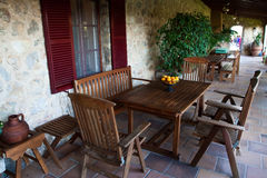 Beautiful House Terrace. A beautiful house wall and terrace royalty free stock images