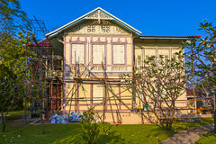 Beautiful house under restoration in the Sommerpalace Bang Pa In, Ayutthaya Royalty Free Stock Images