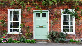 Beautiful House. View of a Beautiful House Exterior and Front Door Seen on a London Street stock image