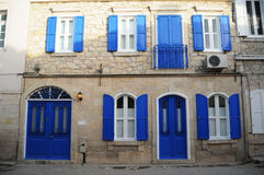 Beautiful houses of Alacati, compatible with nostalgic and nature Stock Image