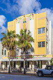 Beautiful houses in Art Deco style in South Miami Royalty Free Stock Photography