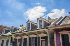 Beautiful houses and blue sky Stock Photography